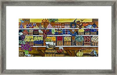 Fruit And Vegetable Market By Alison Tave Framed Print by Sheldon Kralstein