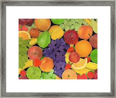 Fruit Framed Print by Bav Patel