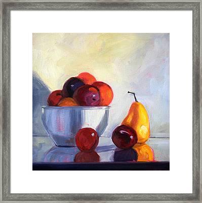 Fruit Bowl Framed Print by Nancy Merkle
