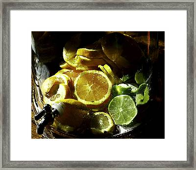 Fruit Drink Framed Print by Camille Lopez