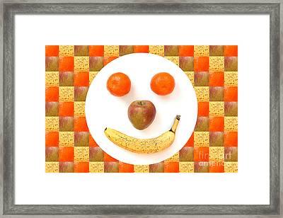 Fruit Face Framed Print by Natalie Kinnear