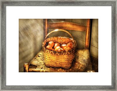 Fruit - Fresh Peaches  Framed Print by Mike Savad