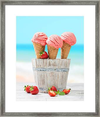 Fruit Ice Cream Framed Print by Amanda And Christopher Elwell