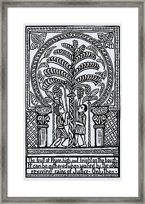 Fruit Of Peace Framed Print by Ricardo Levins Morales
