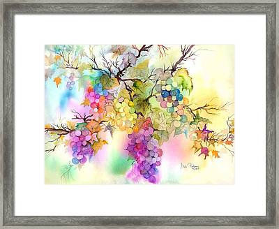Fruit On The Vine Framed Print by Neela Pushparaj