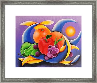 Fruit Framed Print by Oswaldo Cevallos