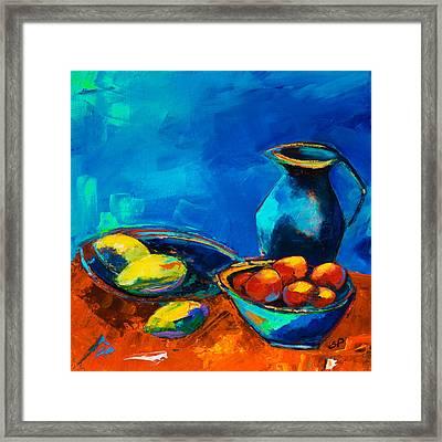 Fruit Palette Framed Print by Elise Palmigiani