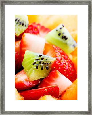 Fruit Salad Macro Framed Print by Johan Swanepoel