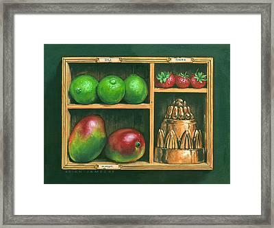 Fruit Shelf Framed Print by Brian James