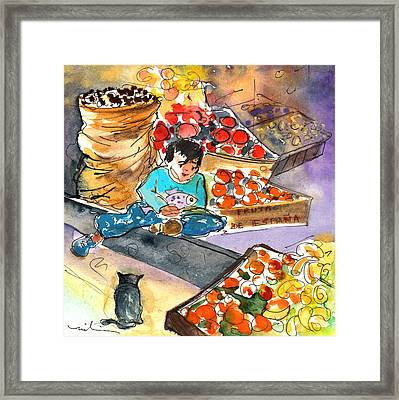 Fruit Shop In The Mountains Of Gran Canaria Framed Print by Miki De Goodaboom