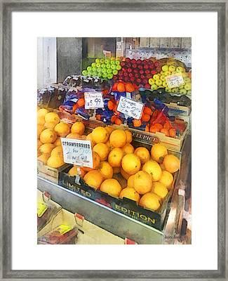 Fruit Stand Hoboken Nj Framed Print by Susan Savad