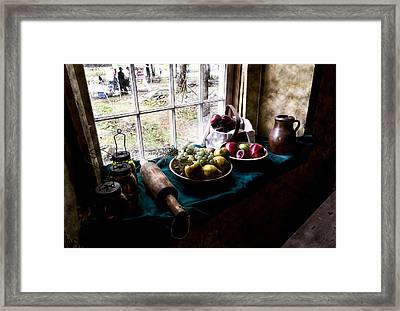 Fruits Of Harvest Framed Print by Peter Chilelli