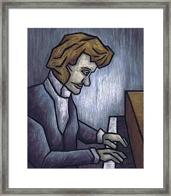 Fryderyk Chopin - Prelude In E-minor Framed Print by Kamil Swiatek