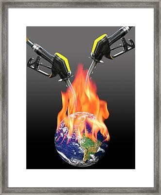 Fuelling Global Warming Framed Print by Victor De Schwanberg