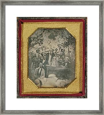Fugitive Slave Law Convention, Cazenovia Framed Print by Litz Collection