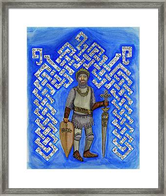Full Armor Of Yhwh Man Framed Print by Hidden  Mountain