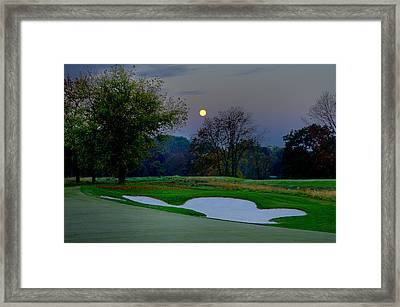 Full Moon At The Philadelphia Cricket Club Framed Print by Bill Cannon