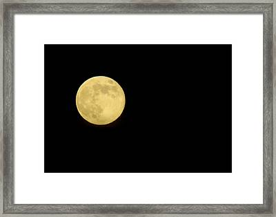 Full Moon Framed Print by Greg Thiemeyer