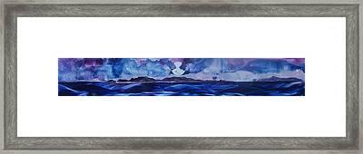Full Moon Islands Framed Print by Danita Cole