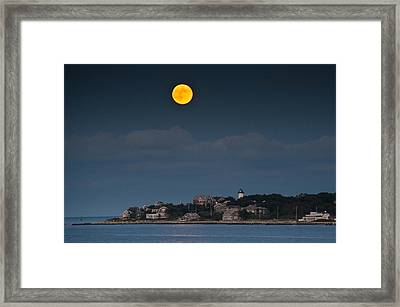 Full Moon Over East Chop Framed Print by Steve Myrick