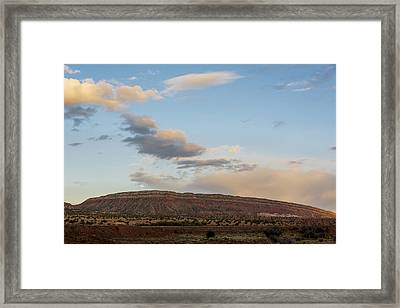 Full Moon Over Jemez Mountains - New Mexico Framed Print by Brian Harig