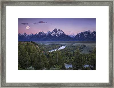 Full Moon Over The Mountains Framed Print by Andrew Soundarajan