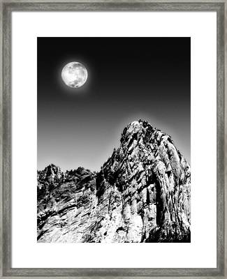 Full Moon Over The Suicide Rock Framed Print by Ben and Raisa Gertsberg