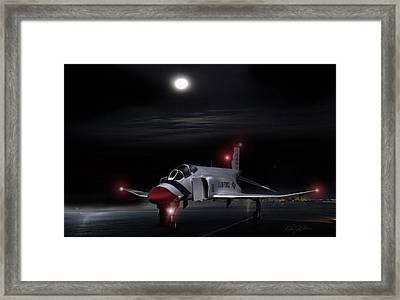 Full Moon Phantom Framed Print by Peter Chilelli