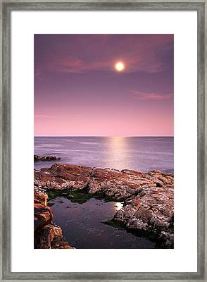 Full Moon Reflection Framed Print by Juergen Roth