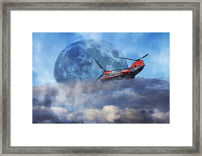 Full Moon Rescue Framed Print by Betsy C Knapp