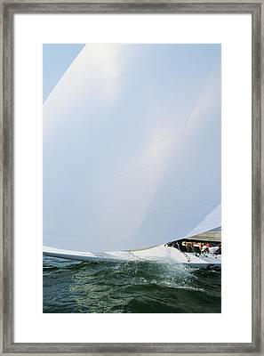 Full Spinnaker - Lake Geneva Wisconsin Framed Print by Bruce Thompson
