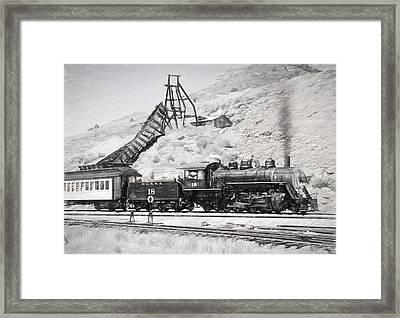 Full Steam Ahead Framed Print by Donna Kennedy