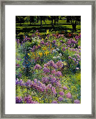 Full Sun Full Garden Framed Print by William Bukowski
