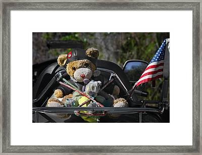 Full Throttle Teddy Bear Framed Print by Christine Till