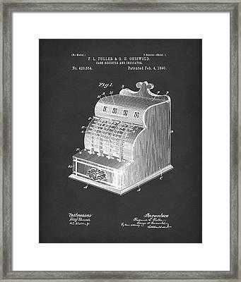 Fuller And Griswold Cash Register 1890 Patent Art Black Framed Print by Prior Art Design