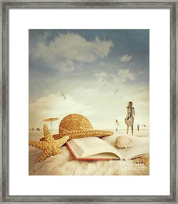 Fun Day At The Beach Framed Print by Sandra Cunningham