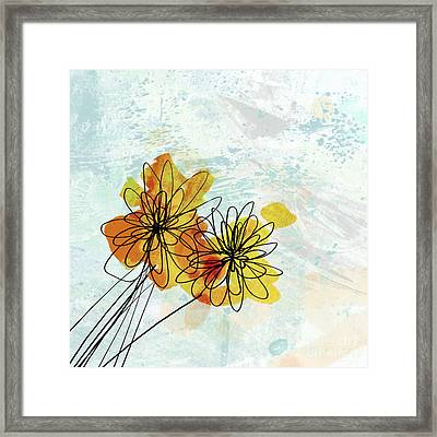 Fun Flowers  Framed Print by Ann Powell