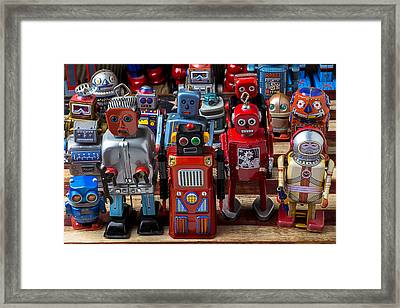 Fun Toy Robots Framed Print by Garry Gay
