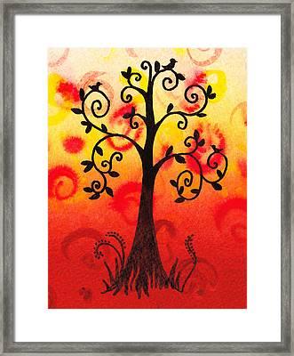 Fun Tree Of Life Impression IIi Framed Print by Irina Sztukowski