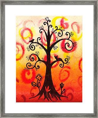 Fun Tree Of Life Impression V Framed Print by Irina Sztukowski