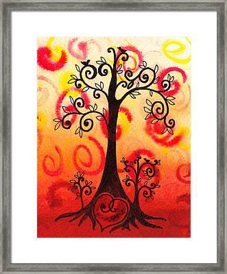 Fun Tree Of Life Impression Vi Framed Print by Irina Sztukowski