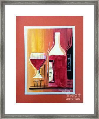 Fun Wine Time Framed Print by Brenda Brown
