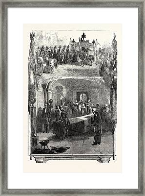 Funeral Of Marshal St. Arnaud At Paris Internment Framed Print by French School