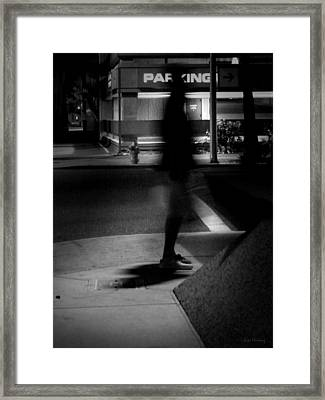 Funky Feet Framed Print by Lin Haring