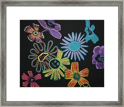 Funky Flowers Framed Print by Betty-Anne McDonald