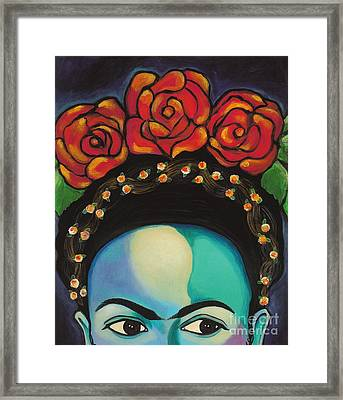 Funky Frida Framed Print by Carla Bank