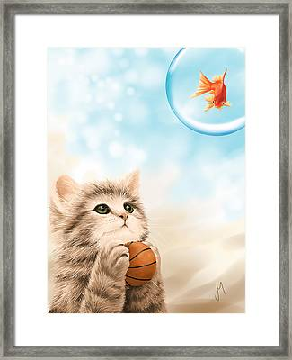 Funny Games Framed Print by Veronica Minozzi