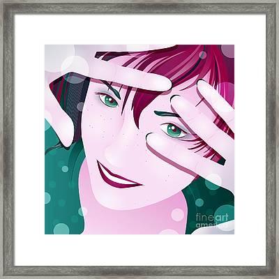 Funny Framed Print by Sandra Hoefer