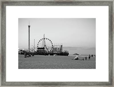 Funtown Pier - Jersey Shore Framed Print by Angie Tirado