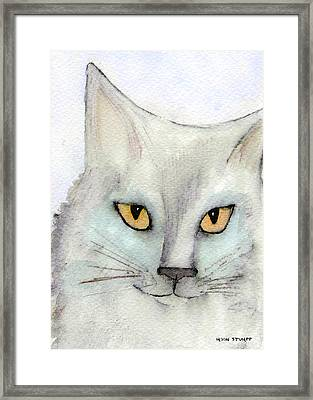 Fur Friends Series - Lizzy Framed Print by Moon Stumpp